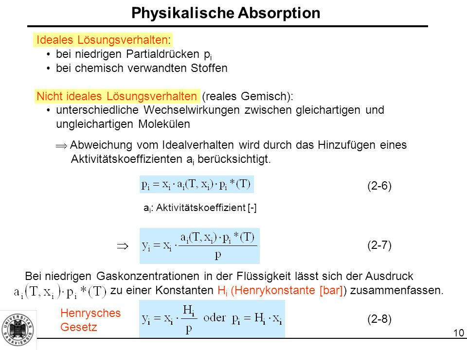 Physikalische Absorption