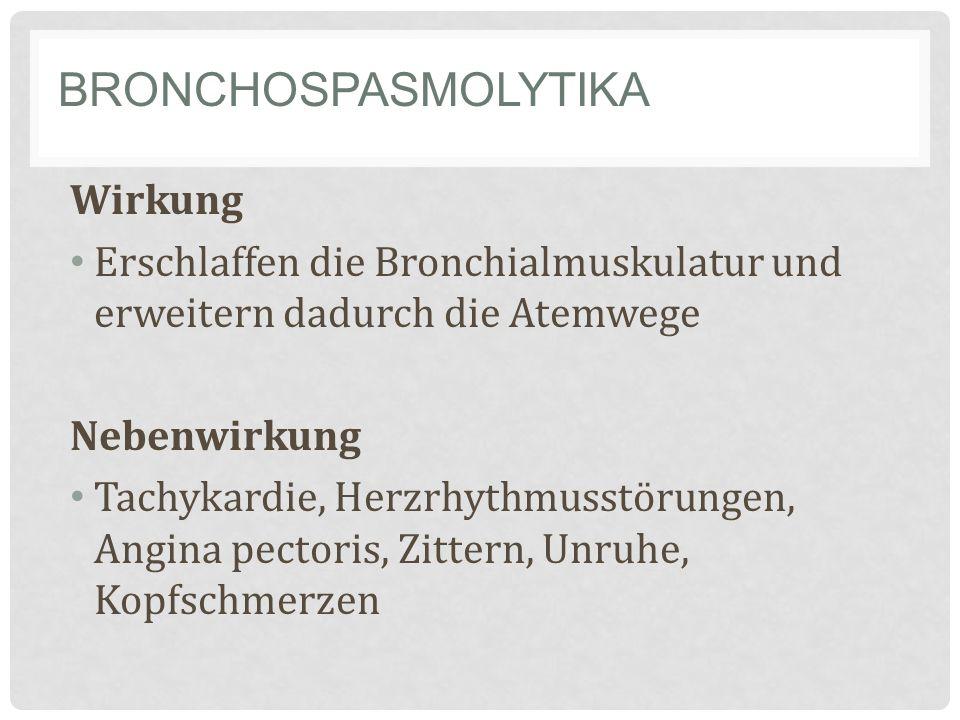 Bronchospasmolytika Wirkung