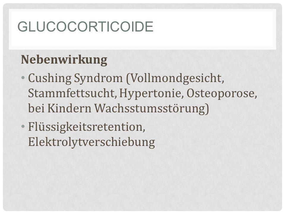 Glucocorticoide Nebenwirkung