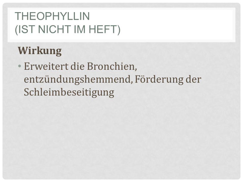 Theophyllin (ist nicht im Heft)