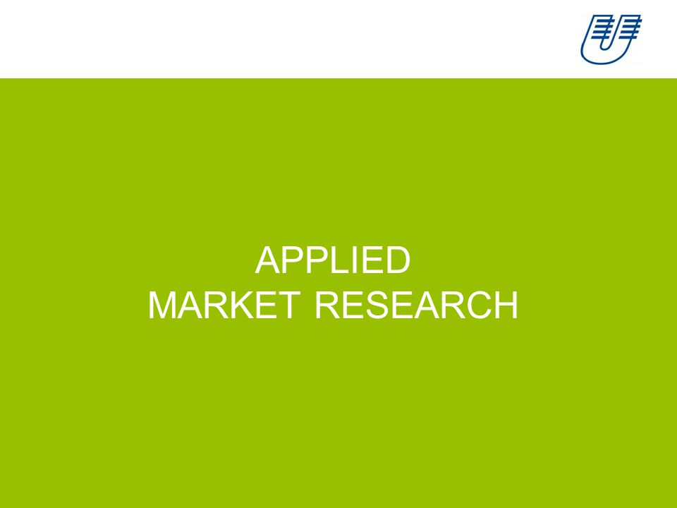 APPLIED MARKET RESEARCH