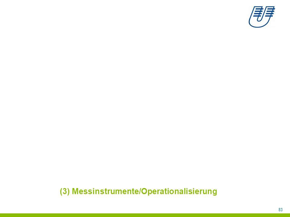 (3) Messinstrumente/Operationalisierung