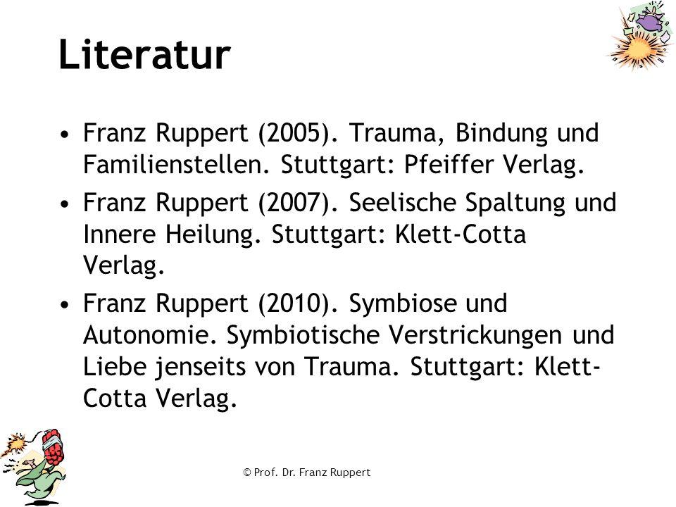 Literatur Franz Ruppert (2005). Trauma, Bindung und Familienstellen. Stuttgart: Pfeiffer Verlag.