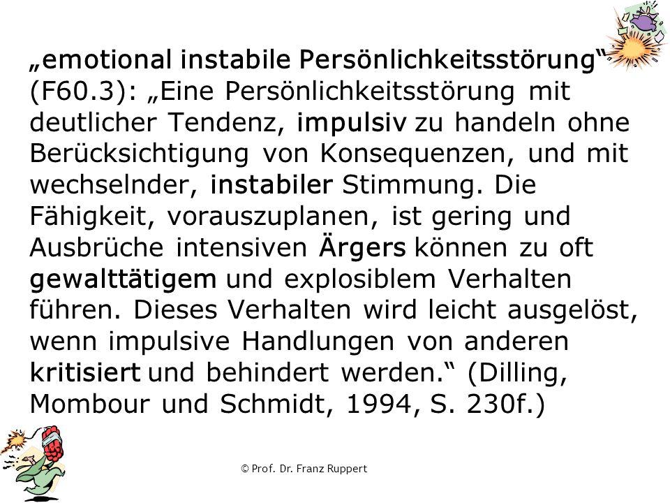 """""""emotional instabile Persönlichkeitsstörung (F60"""