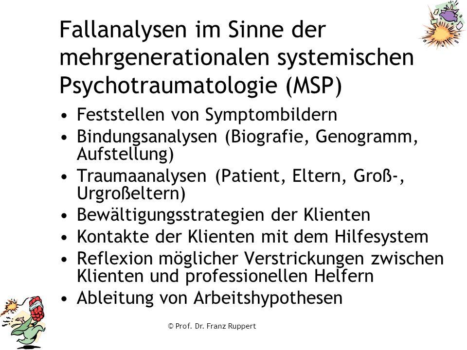 Fallanalysen im Sinne der mehrgenerationalen systemischen Psychotraumatologie (MSP)