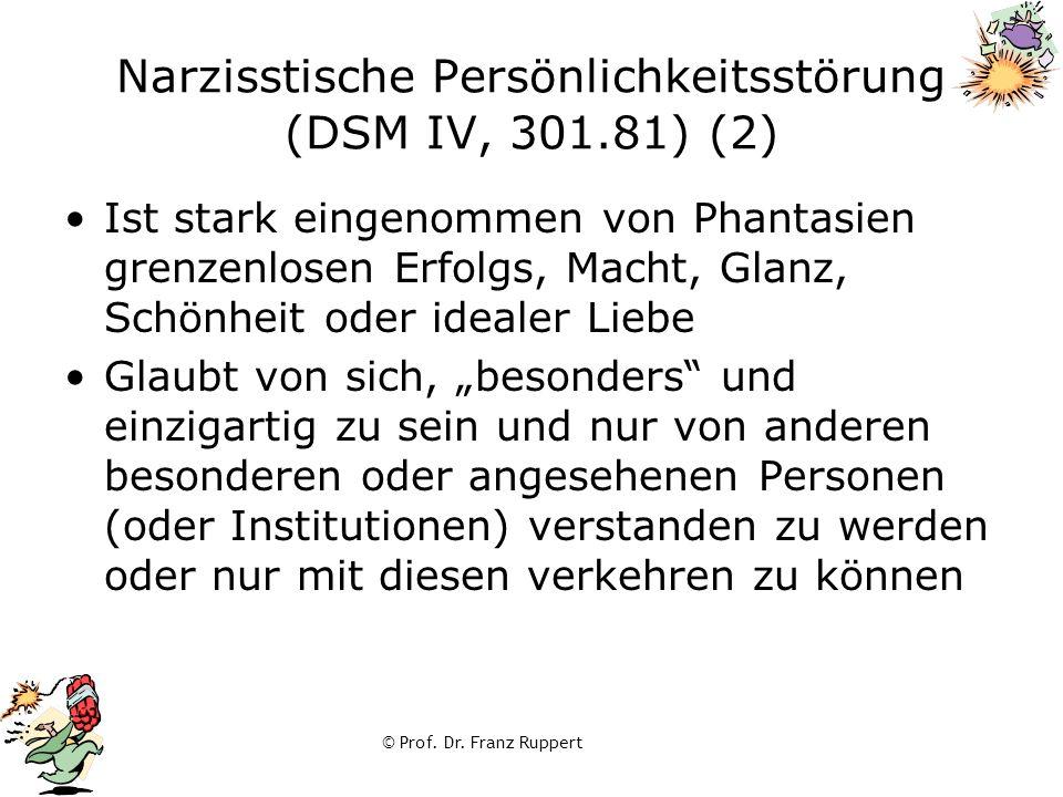 Narzisstische Persönlichkeitsstörung (DSM IV, 301.81) (2)