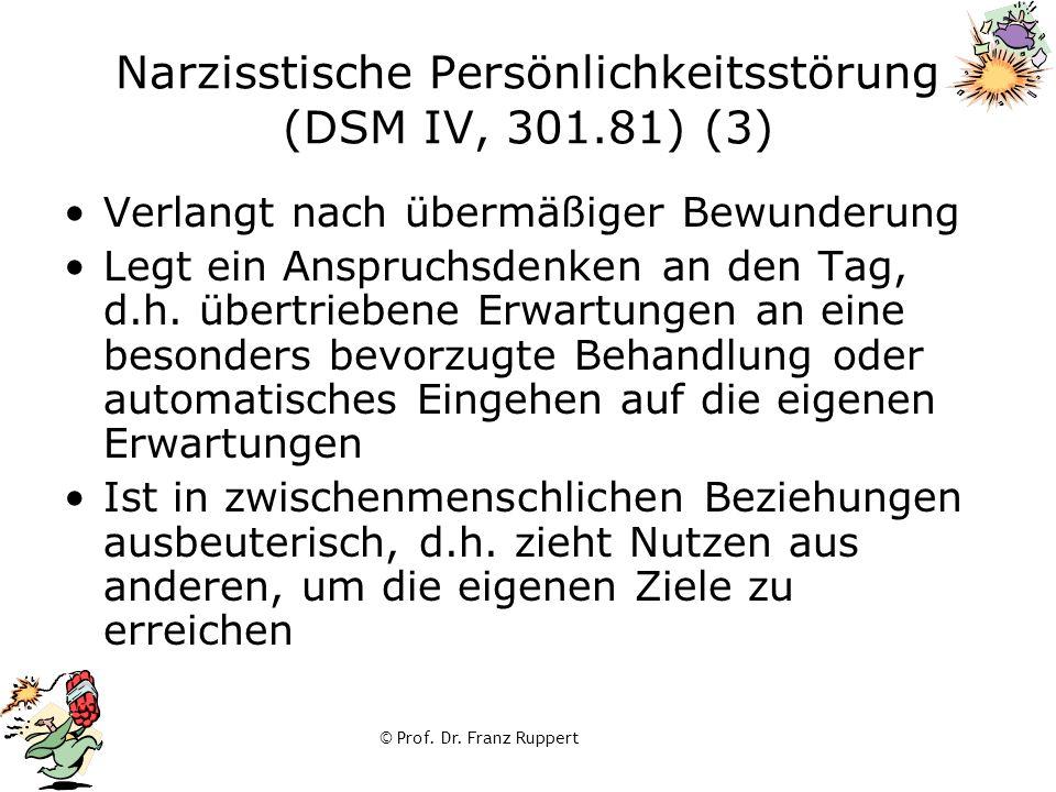 Narzisstische Persönlichkeitsstörung (DSM IV, 301.81) (3)