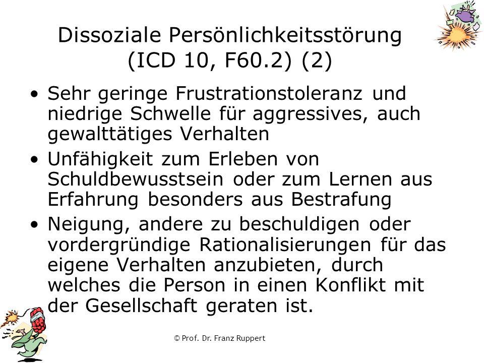 Dissoziale Persönlichkeitsstörung (ICD 10, F60.2) (2)