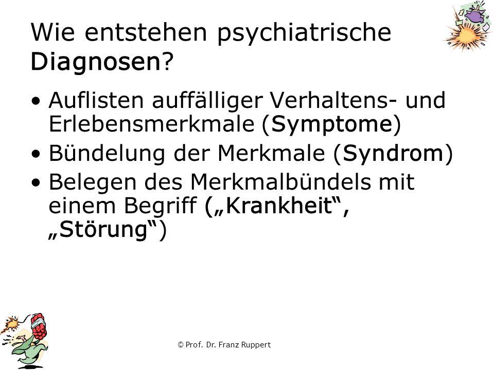 Wie entstehen psychiatrische Diagnosen