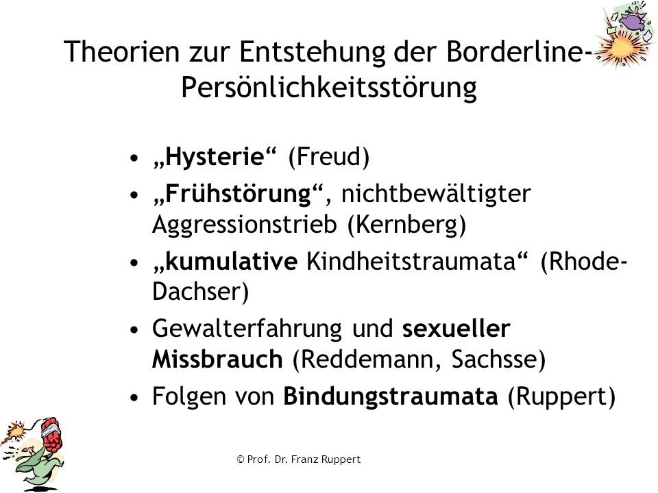 Theorien zur Entstehung der Borderline-Persönlichkeitsstörung
