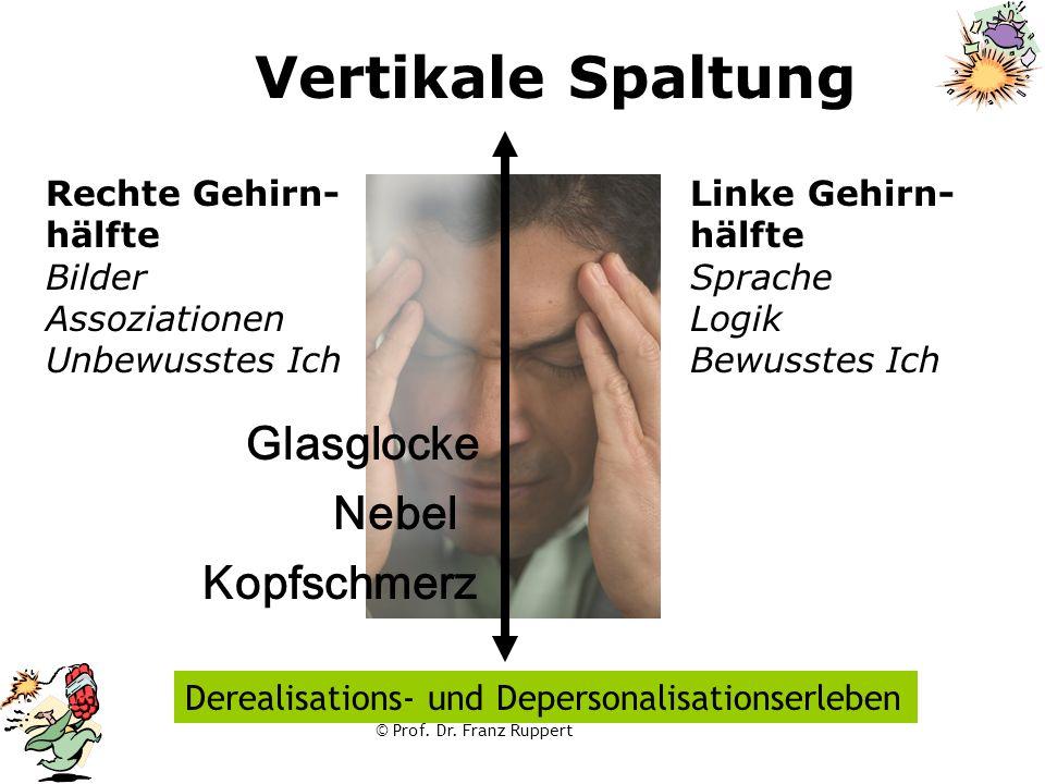 Vertikale Spaltung Glasglocke Nebel Kopfschmerz Rechte Gehirn- hälfte