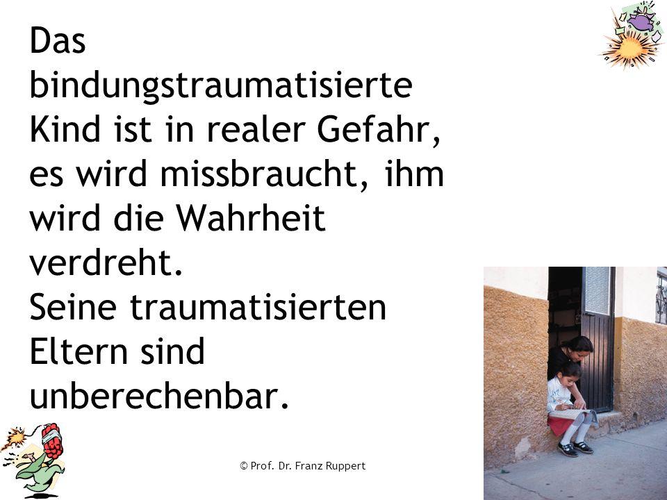Das bindungstraumatisierte Kind ist in realer Gefahr, es wird missbraucht, ihm wird die Wahrheit verdreht. Seine traumatisierten Eltern sind unberechenbar.