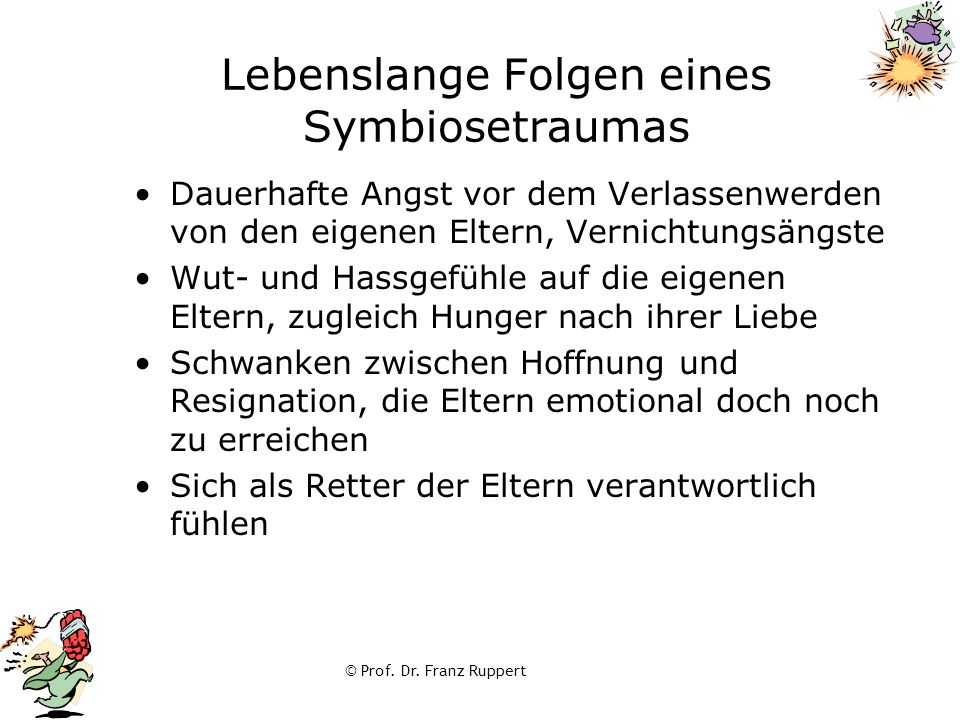 Lebenslange Folgen eines Symbiosetraumas