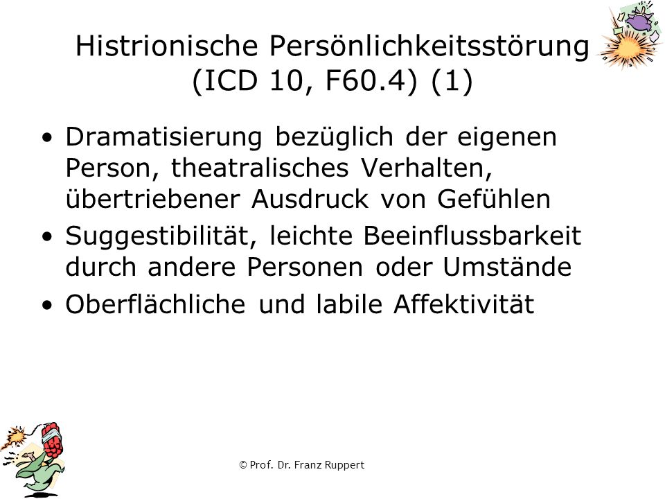 Histrionische Persönlichkeitsstörung (ICD 10, F60.4) (1)