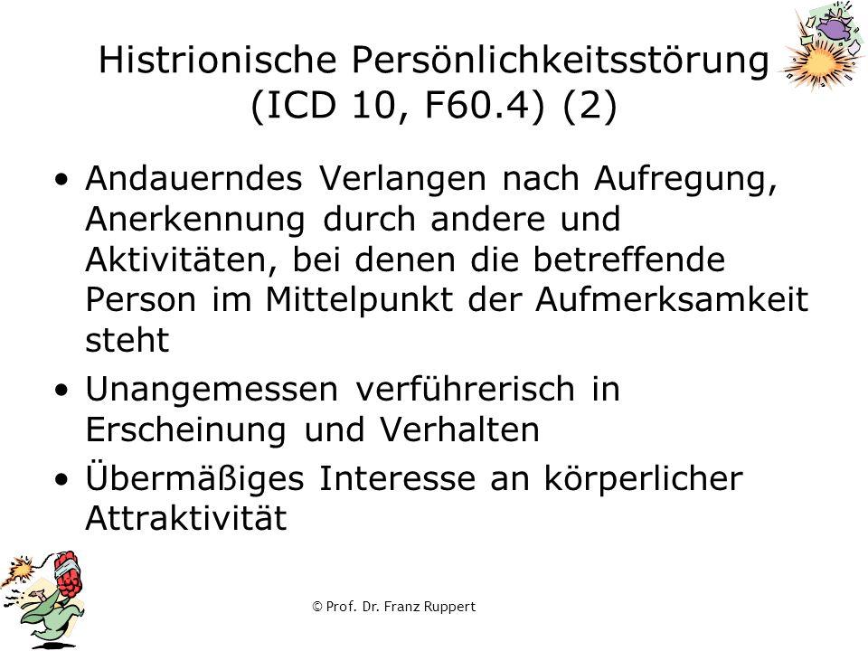 Histrionische Persönlichkeitsstörung (ICD 10, F60.4) (2)