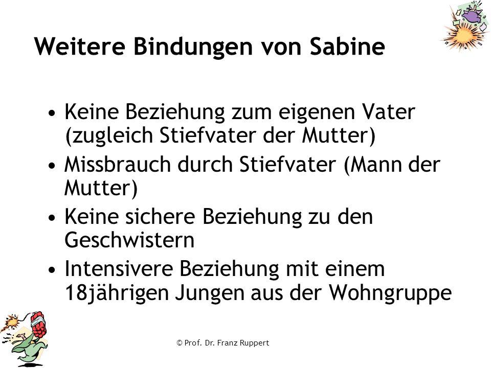 Weitere Bindungen von Sabine