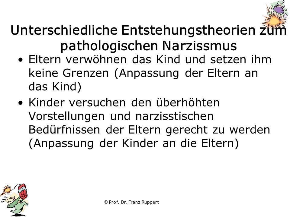 Unterschiedliche Entstehungstheorien zum pathologischen Narzissmus