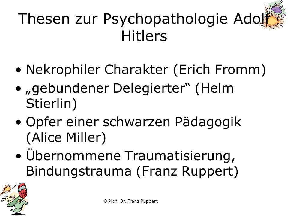 Thesen zur Psychopathologie Adolf Hitlers