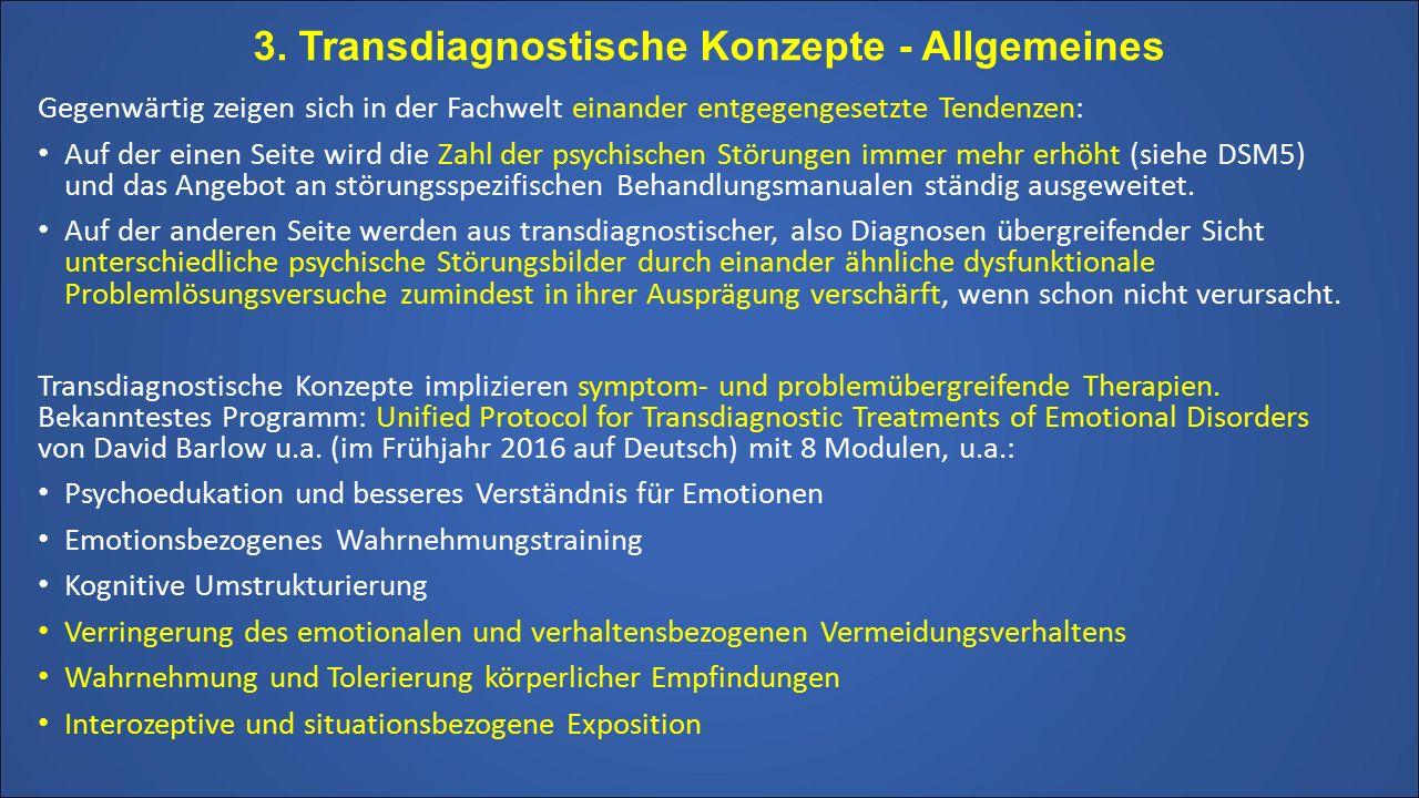 3. Transdiagnostische Konzepte - Allgemeines