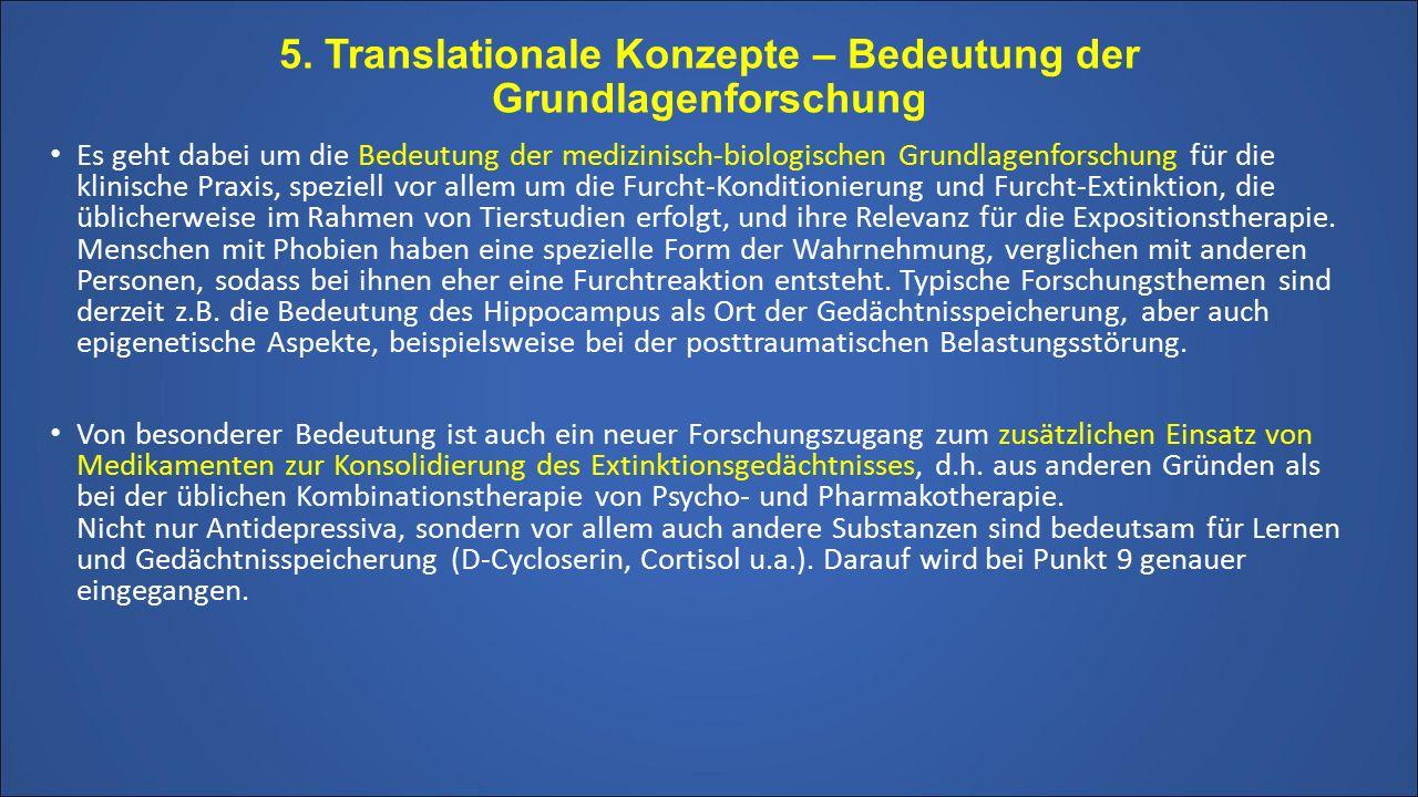 5. Translationale Konzepte – Bedeutung der Grundlagenforschung