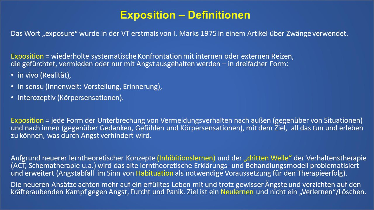 Exposition – Definitionen