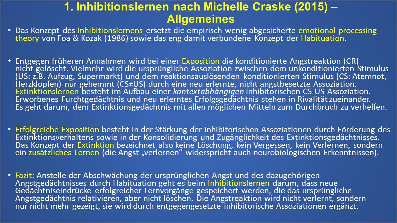 1. Inhibitionslernen nach Michelle Craske (2015) – Allgemeines