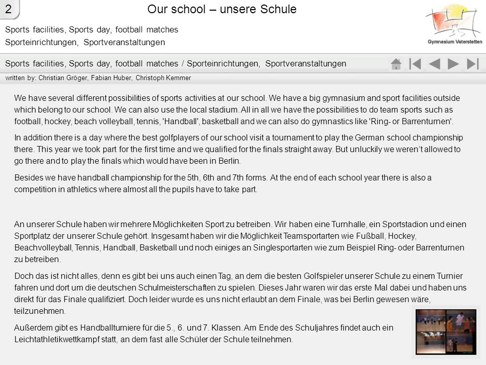 Our school – unsere Schule