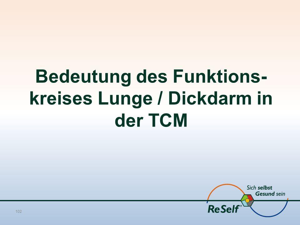 Bedeutung des Funktions-kreises Lunge / Dickdarm in der TCM