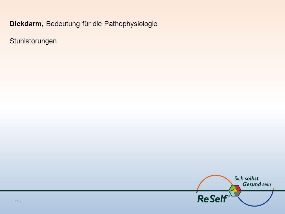 Dickdarm, Bedeutung für die Pathophysiologie