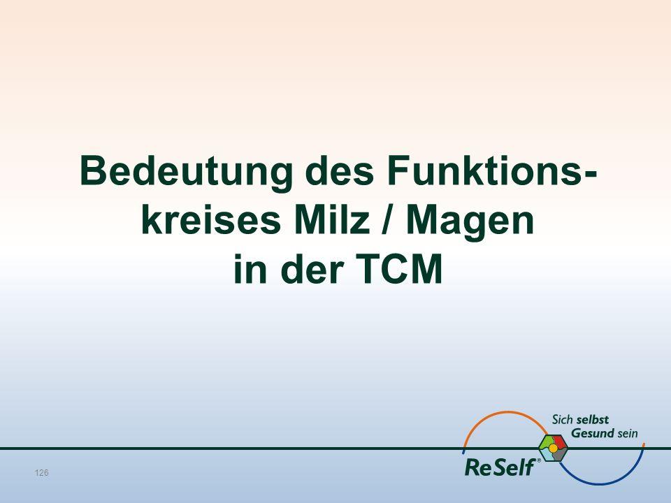 Bedeutung des Funktions-kreises Milz / Magen