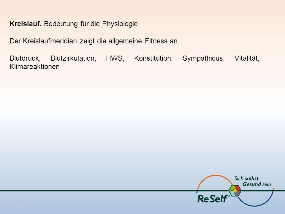 Kreislauf, Bedeutung für die Physiologie