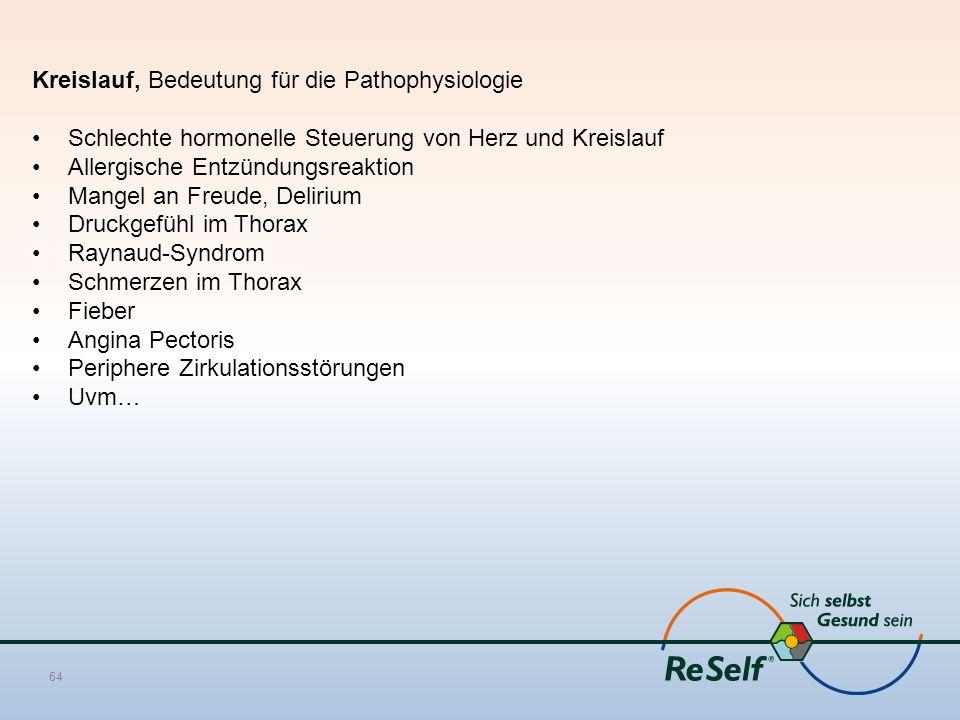 Kreislauf, Bedeutung für die Pathophysiologie