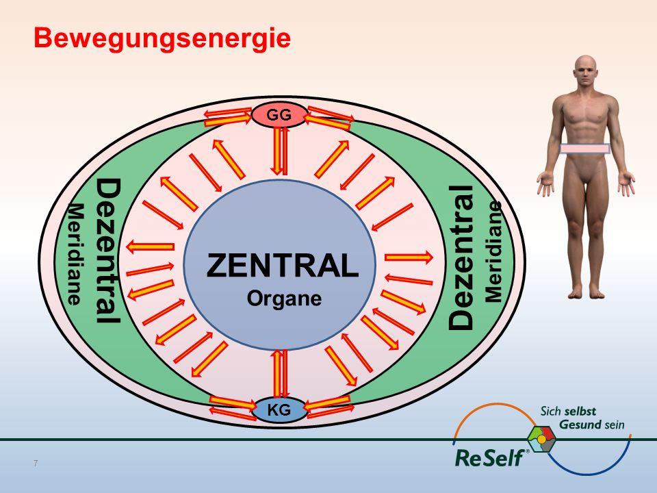 Dezentral Dezentral ZENTRAL Bewegungsenergie Meridiane Meridiane