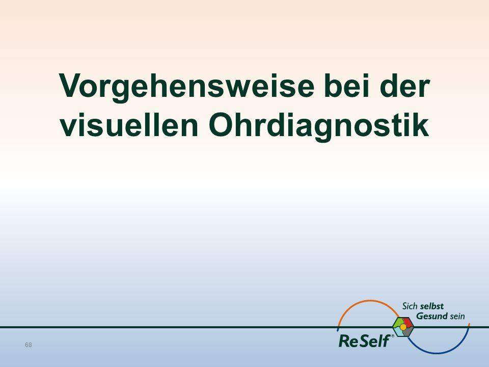 Vorgehensweise bei der visuellen Ohrdiagnostik