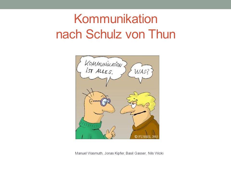 Kommunikation nach Schulz von Thun
