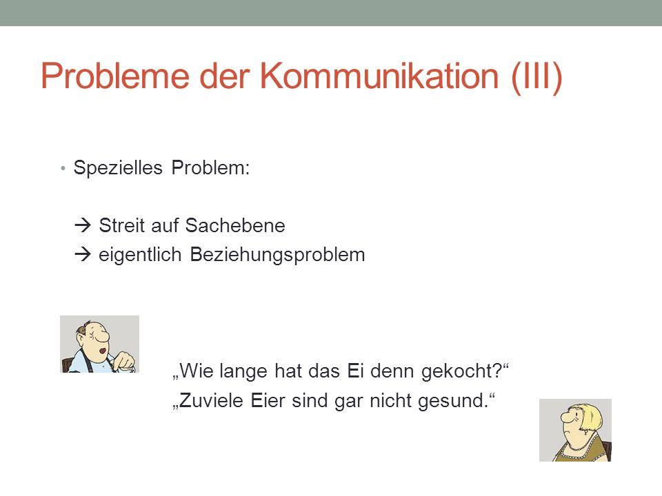 Probleme der Kommunikation (III)