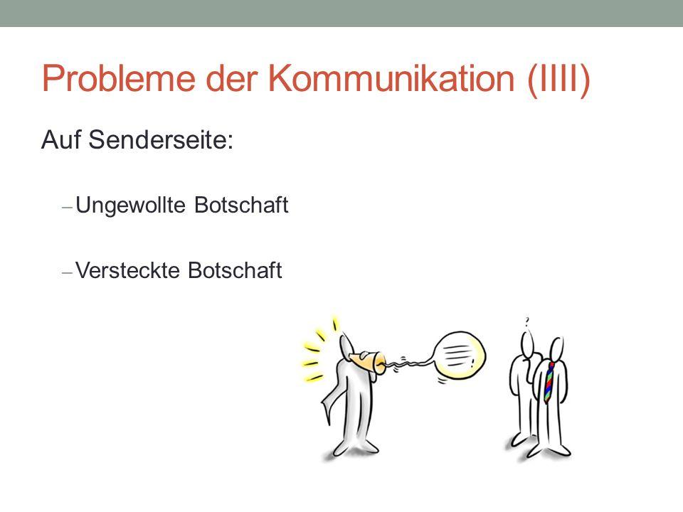 Probleme der Kommunikation (IIII)