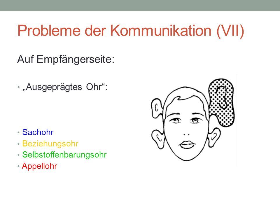 Probleme der Kommunikation (VII)