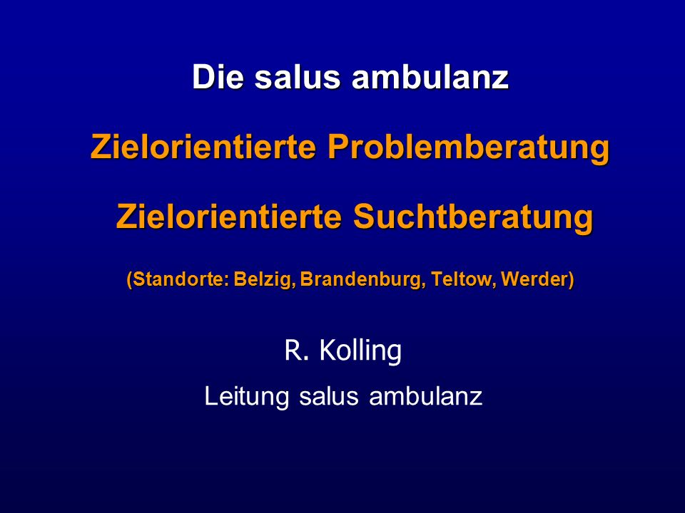 Leitung salus ambulanz