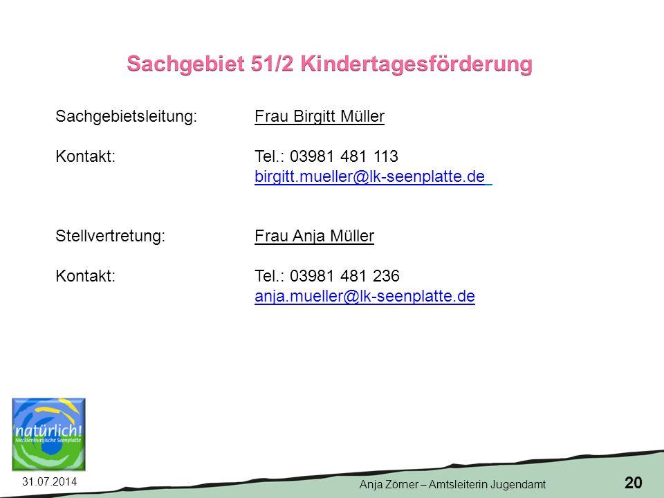 Sachgebiet 51/2 Kindertagesförderung
