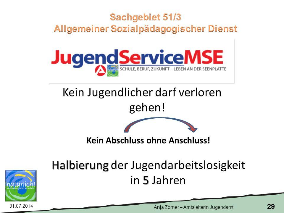 Allgemeiner Sozialpädagogischer Dienst Kein Abschluss ohne Anschluss!