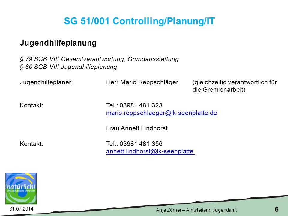 SG 51/001 Controlling/Planung/IT