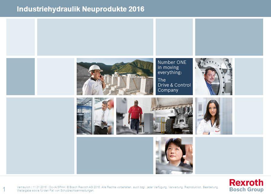 Industriehydraulik Neuprodukte 2016