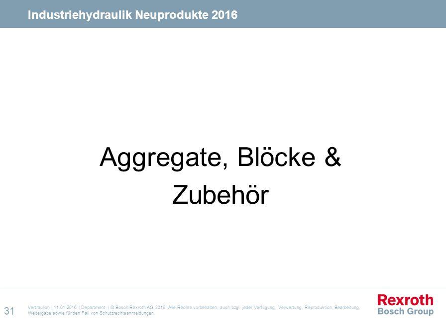 Aggregate, Blöcke & Zubehör