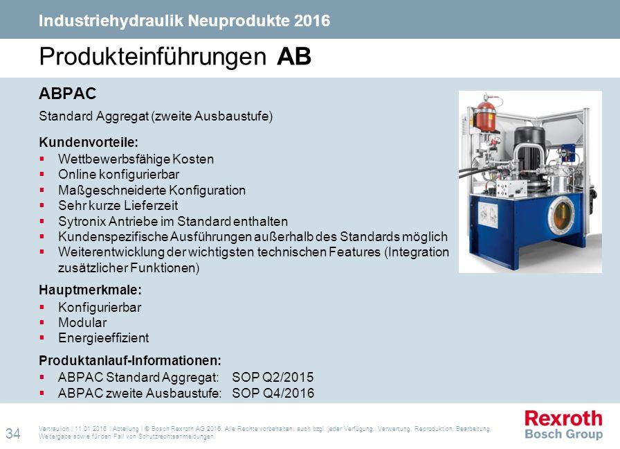 Produkteinführungen AB