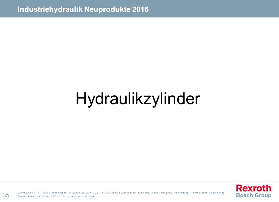 Hydraulikzylinder Industriehydraulik Neuprodukte 2016