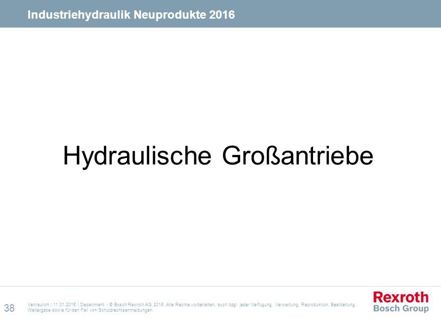 Hydraulische Großantriebe