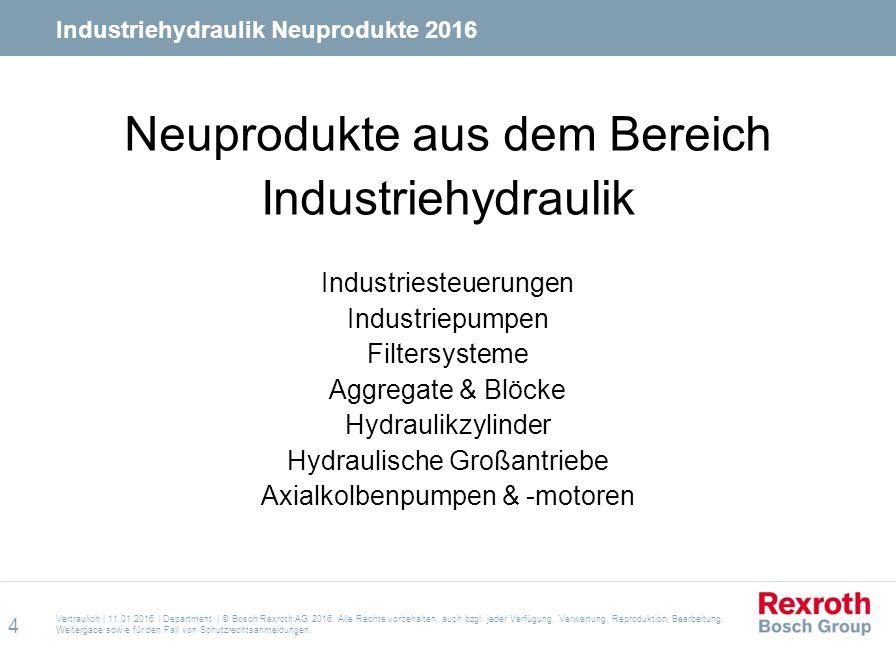 Neuprodukte aus dem Bereich Industriehydraulik Industriesteuerungen