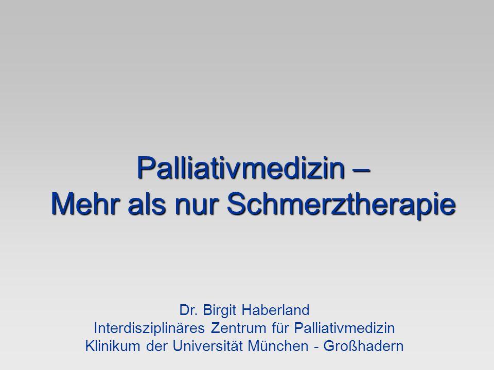 Mehr als nur Schmerztherapie