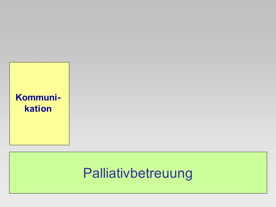 Kommuni-kation Palliativbetreuung
